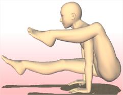 ヨガ 片足をかつぐポーズ