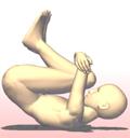 ヨガ 胎児のポーズ 後ろに倒れる ワーユ・ムクティ・アーサナ Vayu Muktyasana