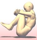 ヨガ 胎児のポーズ 起き上がる ワーユ・ムクティ・アーサナ Vayu Muktyasana