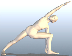 ヨガ 体側を伸ばす三角のポーズ