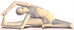 ヨガ 座位で体側を伸ばすポーズ